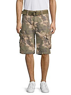 d5df9826e2 QUICK VIEW. Jetlag. Camouflage Belted Cotton Cargo Shorts
