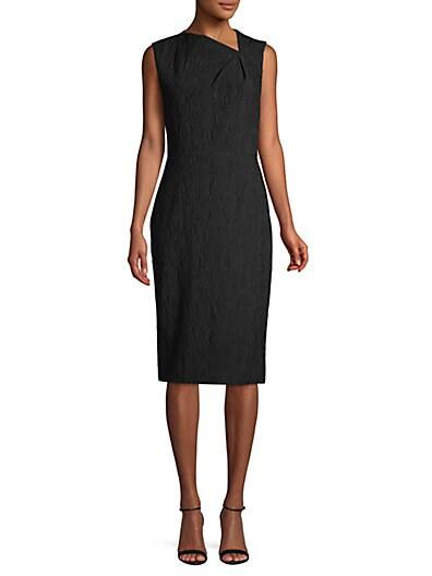 248356d2 Jason Wu Textured Knee-Length Sheath Dress ...