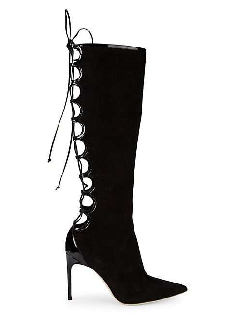 BRIAN ATWOOD | Vixen Suede Lace-Back Boots | Goxip