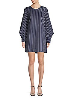 16a92890bd6e BCBGeneration. Striped Poplin Shift Dress