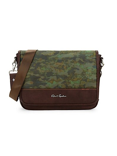 Robert Graham Cormac Camo Messenger Bag ... e62df7a521d7d