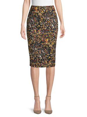 Victoria Beckham Skirts Floral-Print Pencil Skirt