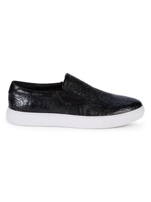 Robert Graham Sneakers Baxter II Embossed Leather Sneakers