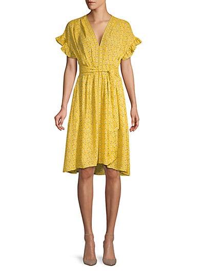 Max Studio Floral A-Line Dress ... 5d2de6ea8