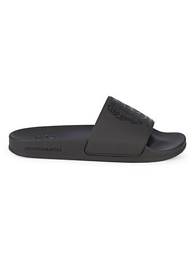 9442dcb01a6dd Bruno Magli Martino Logo Crest Slide Sandals ...