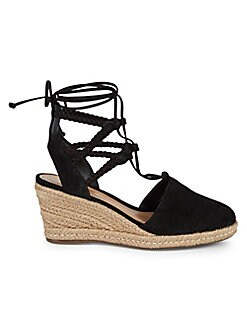 abb75ed857a Lauryn Suede Espadrille Wedge Sandals BLACK. QUICK VIEW. Product image