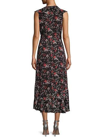... Max Studio Floral Ruffle Wrap Dress 8ac0be77a