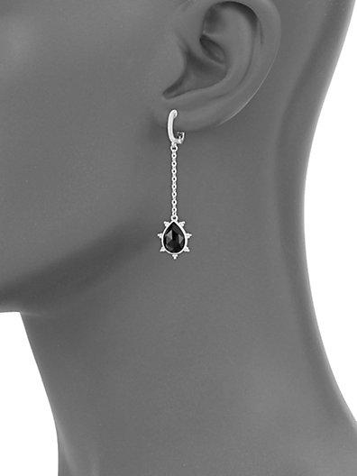 6e3397b05 ... Judith Ripka La Petite Sterling Silver & Black Onyx Hanging Pear Drop  Earrings