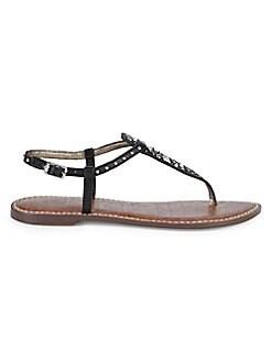 0f1c48124 Sam Edelman. Gigi Studded Leather Sandals.  100.00 59.99. (40% Off). Black   Saddle  White