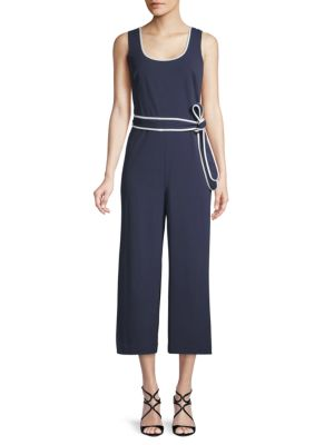 Karl Lagerfeld Suits Sleeveless Cropped Jumpsuit