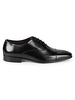29bb5b08595 Medallion Captoe Leather Oxfords BLACK. QUICK VIEW. Product image