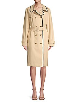 2a2c4b388c2 QUICK VIEW. Kate Spade New York. Double-Breasted Cotton Blend Trench Coat