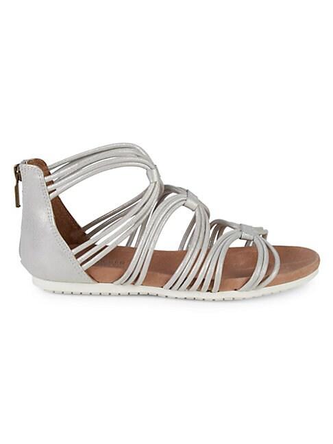 ADAM TUCKER BY ME TOO | Shana Metallic Leather Flat Sandals | Goxip