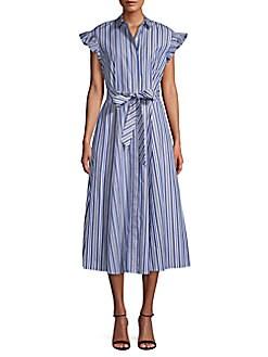 854a1773591 Product image. QUICK VIEW. Calvin Klein. Cotton Wrap Dress