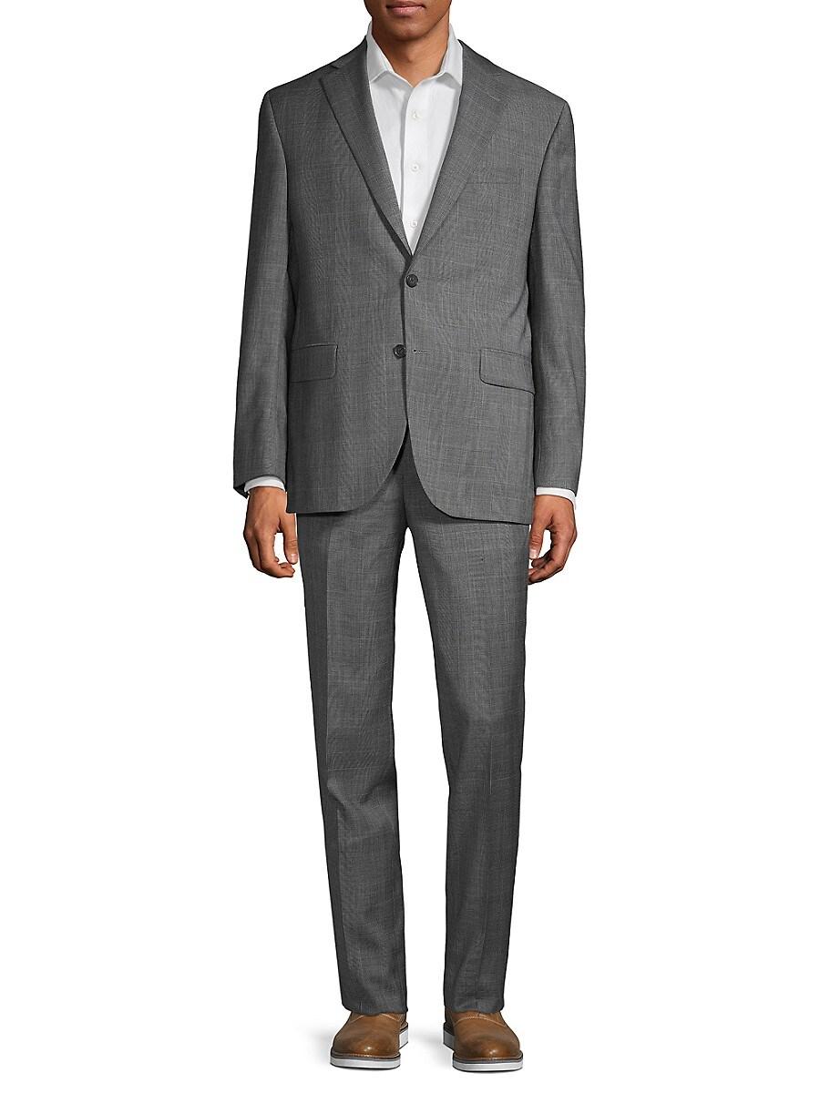 Men's Classic-Fit Glen Plaid Wool Suit