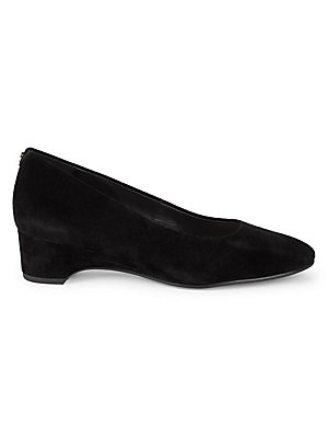 Babs Block Kitten Heel Suede Pumps by Taryn Rose