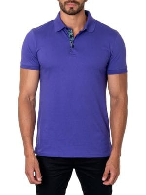 Jared Lang Tops Trim-Fit Stretch Cotton Polo