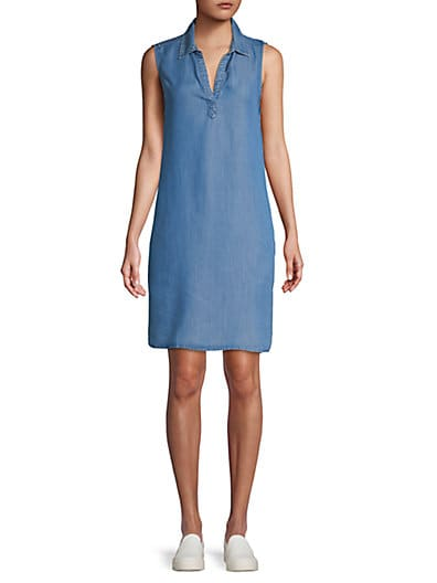 0ed89c5b6a Beach Lunch Lounge Collared Popover Shift Dress ...