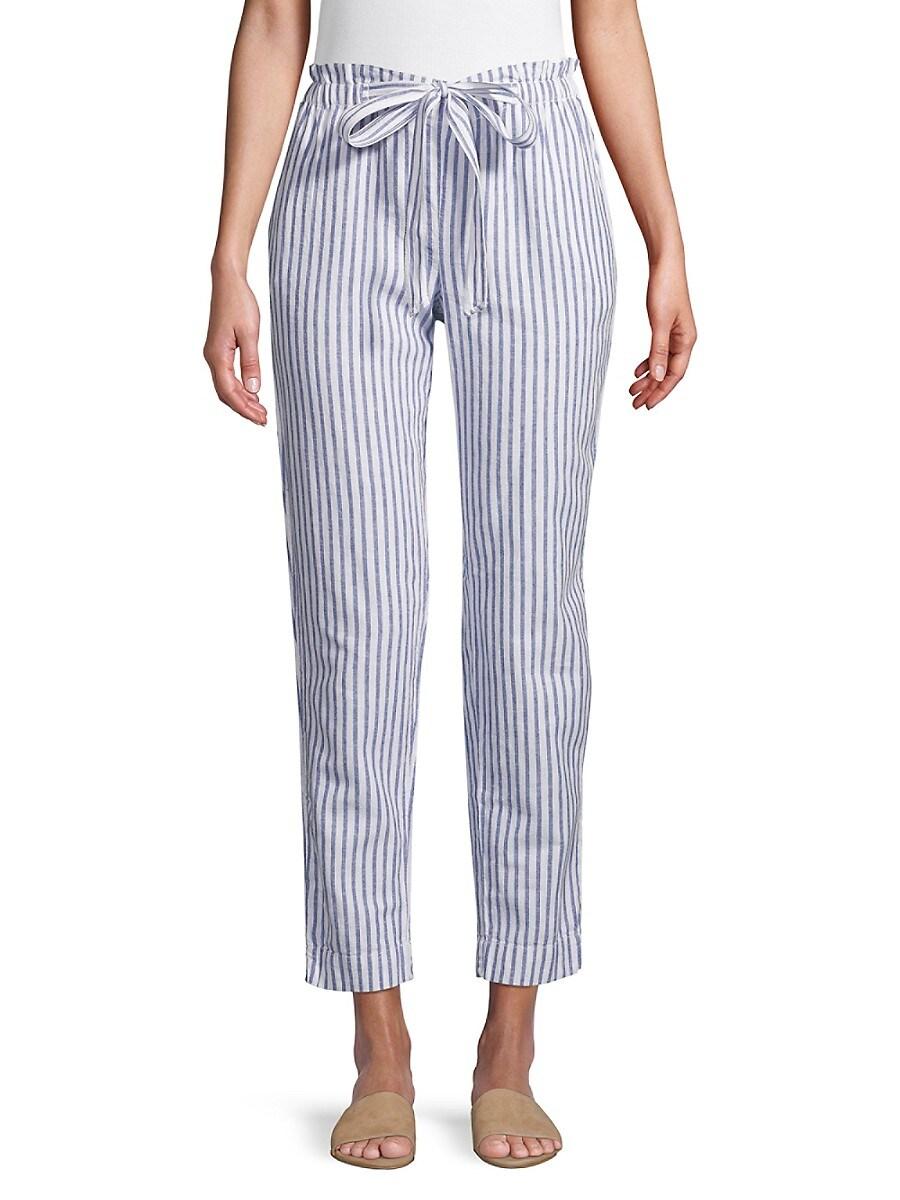 Beach Lunch Lounge Women's Pinstripe Linen & Cotton Pants