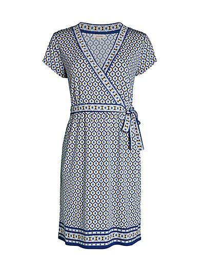 Max Studio Faux-Wrap Print Dress ... 602fd3787