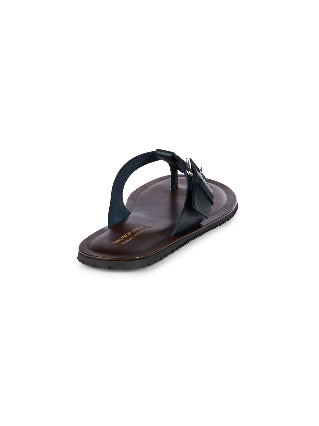 Saks Fifth Avenue Made in Italy Buckle Thong Sandals