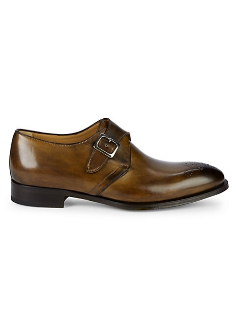 GALLO BY DI BIANCO | Single Buckle Leather Dress Shoes | Goxip