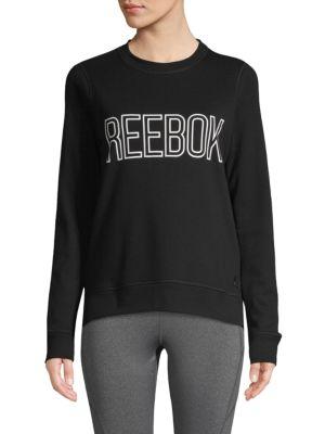 Reebok T-shirts Logo Cotton-Blend Sweatshirt