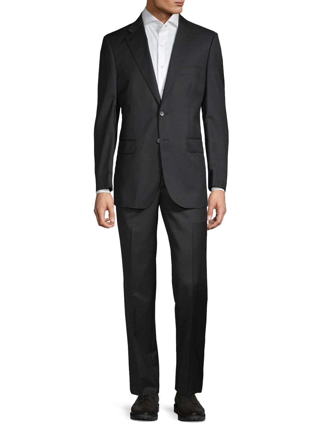 Saks Fifth Avenue Made in Italy Tailored-Fit Wool-Blend Suit