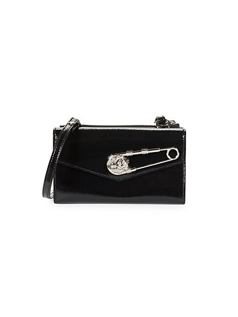 VERSUS   Tri-Fold Patent Leather Wallet   Goxip