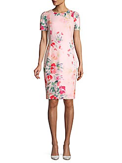 00961c7f8cf Product image. QUICK VIEW. Calvin Klein. Short Sleeve Floral Sheath Dress