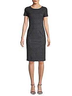 8aa02189bdc39 QUICK VIEW. Max Mara. Felino Line   Dot Print Sheath Dress