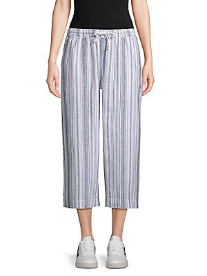 3514f3acb9 Beach Lunch Lounge - Striped Wide Cropped Pants - saksoff5th.com