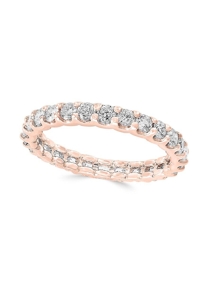 Women's 14K Rose Gold & Diamond Band Ring/Size 7