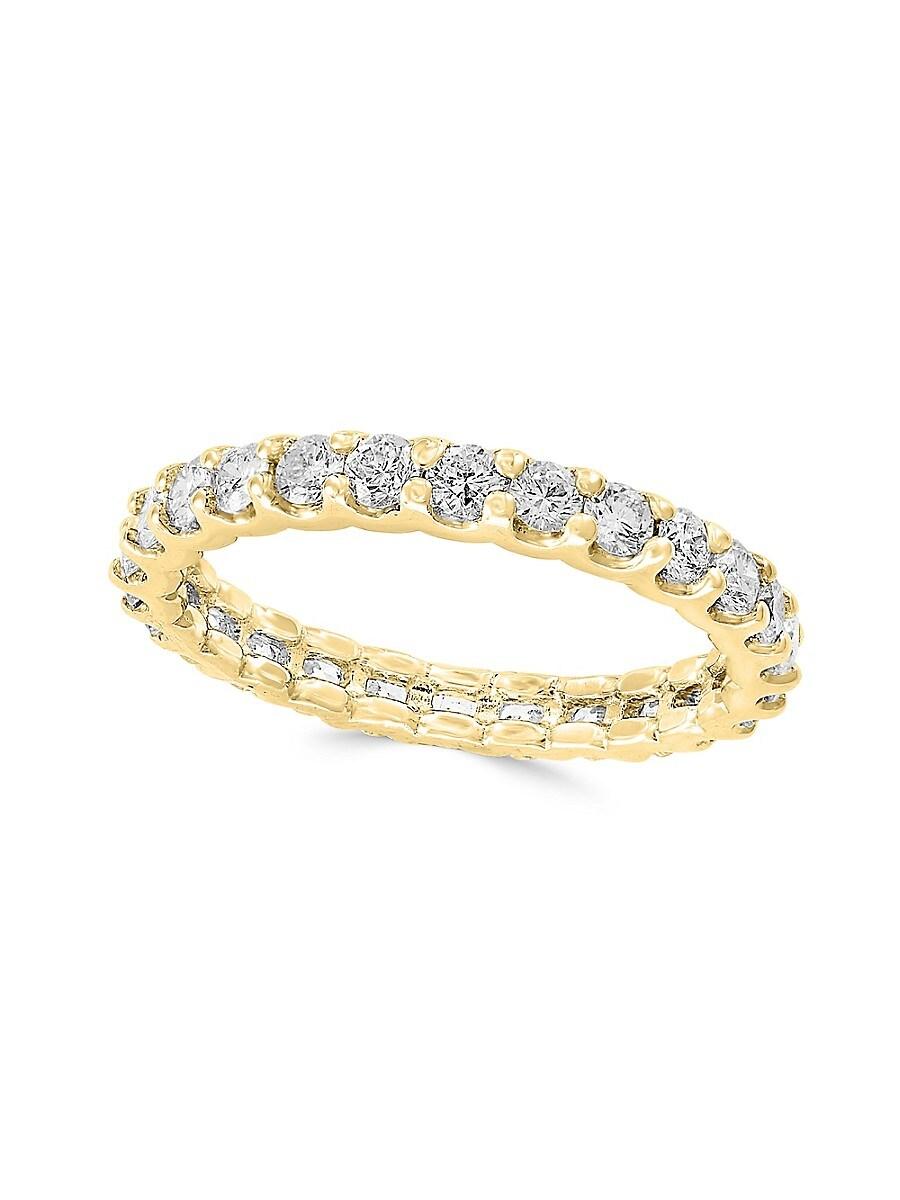 Women's 14K Yellow Gold & Diamond Band Ring/Size 7