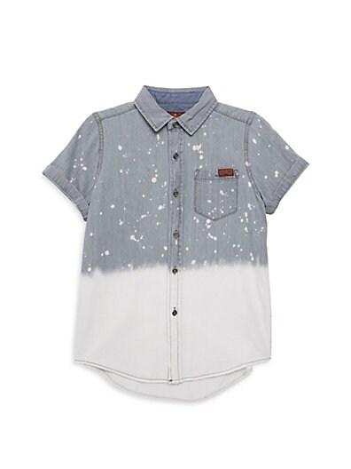 6b4bc5670 7 For All Mankind Little Boy's & Boy's Ombré Cotton Button-Down Shirt ...