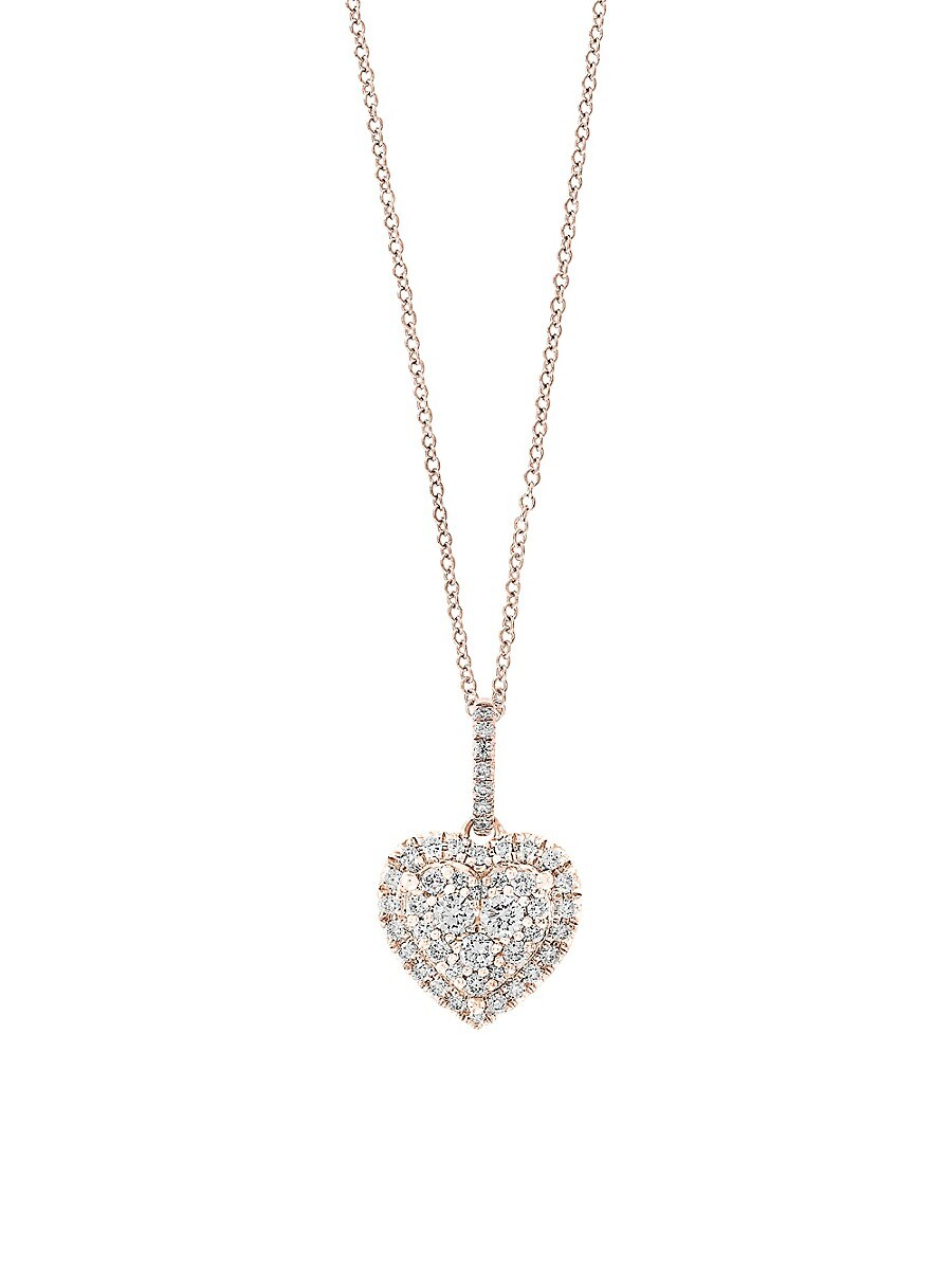 Women's 14K Rose Gold & Diamond Pendant Necklace