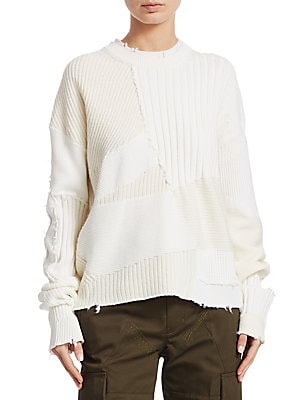0278a5a031 Carven - Oversized Wool Chain Link Sweater - saksoff5th.com