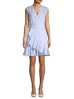 0a20570178be QUICK VIEW. Rebecca Taylor. Sleeveless Cotton Wrap Dress