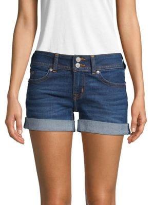 Hudson Shorts Rolled Cuff Denim Shorts