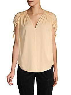4489ba2c88fbdb QUICK VIEW. Vince. Ruched Stretch Silk Top