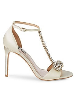 e217253e5fe Badgley Mischka. Pascale Crystal Embellished Sandals