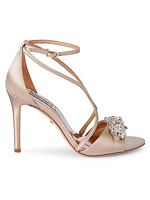 64aa1a615bf Badgley Mischka - Quest Crystal Embellished Sandals - saksoff5th.com