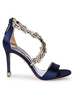 a9513fab5d Badgley Mischka Embellished Evening Sandals