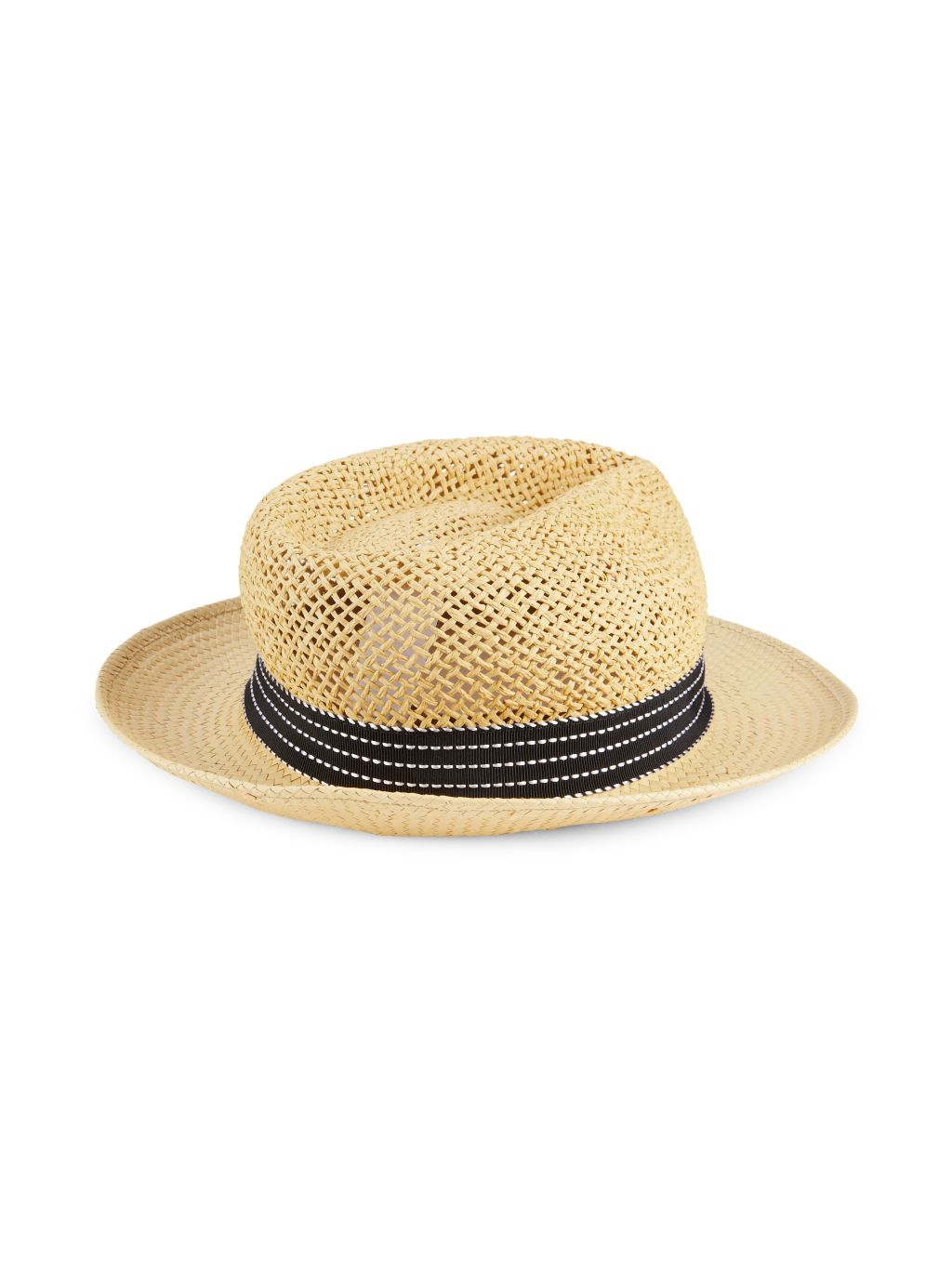 Saks Fifth Avenue Made in Italy Straw Fedora