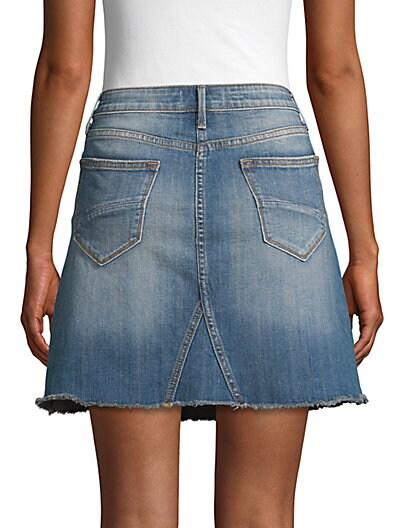 6561f98cf0 ... Driftwood Floral Embroidered Denim Mini Skirt