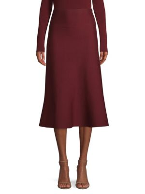 Agnona Skirts Fluted Merino Wool Skirt