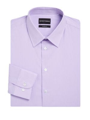 Giorgio Armani Dresses Modern Fit Stripe Stretch Dress Shirt