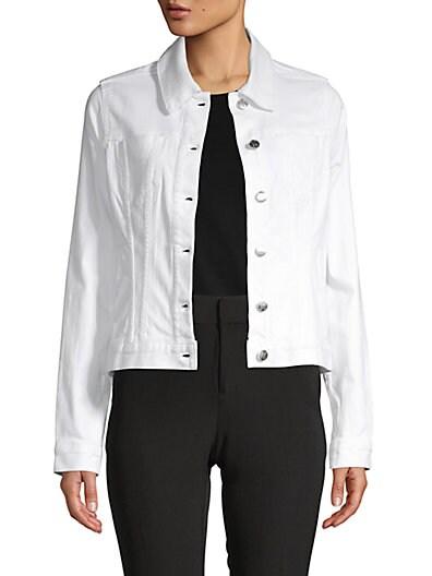 ba5e20a4f Karl Lagerfeld Paris Logo Denim Jacket ...