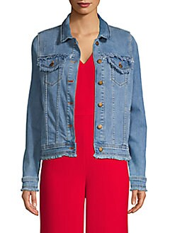 3c840a3517a QUICK VIEW. Karl Lagerfeld Paris. Frayed Denim Jacket