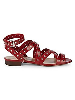 c207645746cb QUICK VIEW. Valentino Garavani. Grommet Leather Flat Sandals